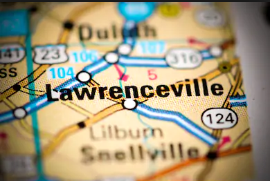 Lawrenceville on Map
